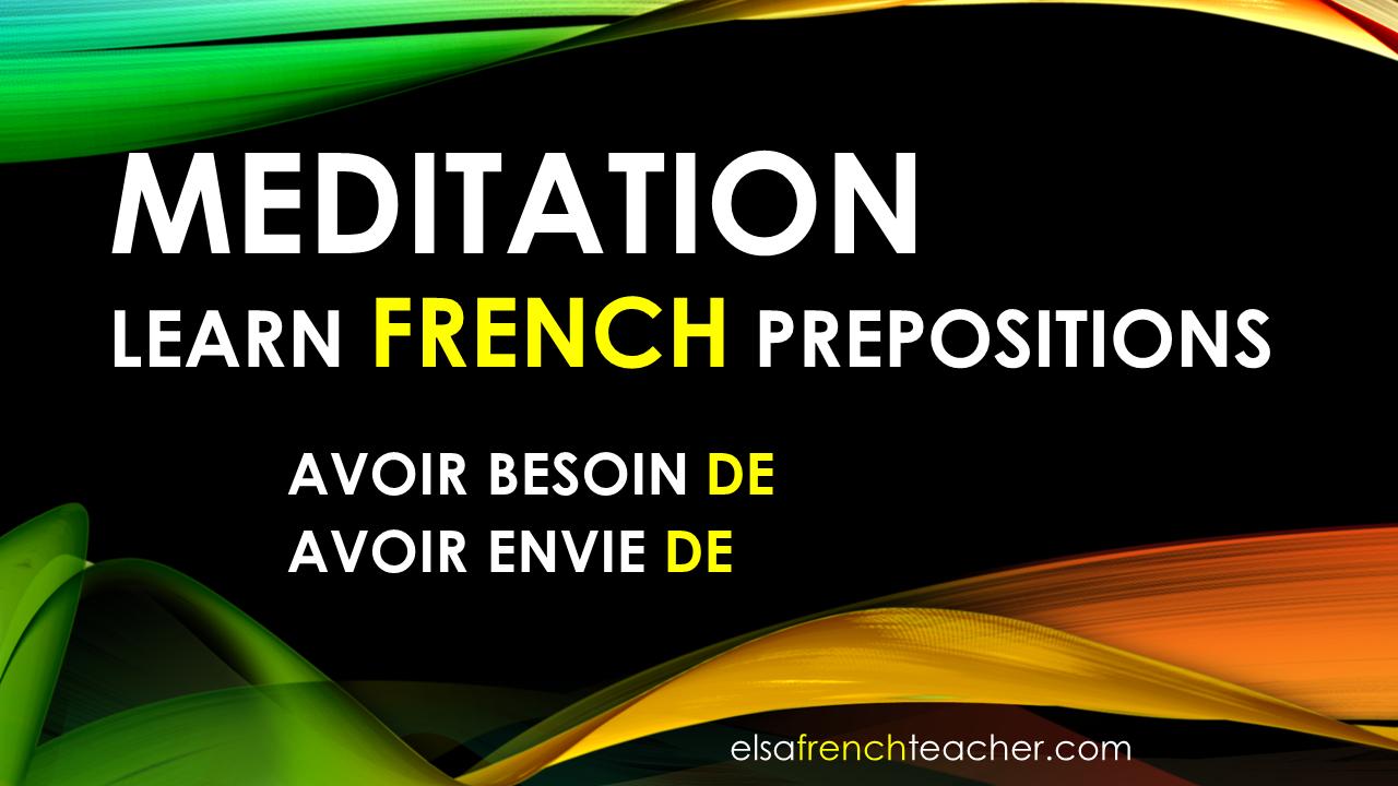 Les prépositions - French lesson - Lecon de francais